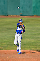 Errol Robinson (9) of the Ogden Raptors during the game against the Orem Owlz in Pioneer League action at Home of the Owlz on June 25, 2016 in Orem, Utah. Orem defeated Ogden 4-1.  (Stephen Smith/Four Seam Images)
