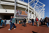 Exterior view of the ticket office during the Sky Bet Championship match between Swansea City and Queens Park Rangers at the Liberty Stadium, Swansea, Wales, UK. Saturday 29 September 2018