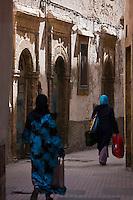 Afrique/Afrique du Nord/Maroc/Essaouira: Scène de rue dans la médina