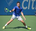 July 31,2017:  Tommy Paul (USA) defeated Casper Rudd (NOR) 3-6, 7-5, 3-0, at the Citi Open being played at Rock Creek Park Tennis Center in Washington, DC, .  ©Leslie Billman/Tennisclix