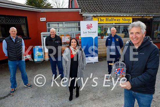 The Ballymac GAA club relaunch their Lotto at the Halfway shop in Ballymac on Thursday. Front: Mike Sweeney (B/mac GAA Chairman). Back l to r: Thomas Leen (B/mac GAA President), David Leen, Theresa Walker Higgins and Ger Lynch