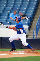 TJ Collett (34) of Terre Haute North Vigo High School in Terre Haute, Indiana playing for the Chicago Cubs scout team during the East Coast Pro Showcase on July 28, 2015 at George M. Steinbrenner Field in Tampa, Florida.  (Mike Janes/Four Seam Images)