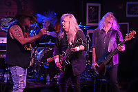 BOCA RATON - FEBRUARY 26: Bobby Ingram, Jimmy Elkins, Shawn Beamer and Tim Lindsey of Molly Hatchet perform at The Funky Biscuit on February 26, 2021 in Boca Raton, Florida. Credit: mpi04/MediaPunch