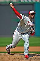30 May 2011: Philadelphia Phillies pitcher Jose Contreras on the mound in relief against the Washington Nationals at Nationals Park in Washington, District of Columbia. The Phillies defeated the Nationals 5-4 to take the first game of their 3-game series. Mandatory Credit: Ed Wolfstein Photo