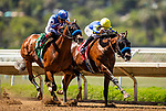 AUGUST 01, 2021: Pinehurst on the inside with Mike Smith aboard defeats, Enbarr and Abel Cedillo to break his maiden at Del Mar Fairgrounds in Del Mar, California on August 01, 2021. Evers/Eclipse Sportswire/CSM