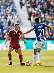 Samir Nasri of Sevilla FC fights for the ball with Ruben Perez of Deportivo Leganes during their La Liga match between Deportivo Leganes and Sevilla FC at the Butarque Municipal Stadium on 15 October 2016 in Madrid, Spain. Photo by Diego Gonzalez Souto / Power Sport Images