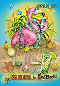 Lori, STILL LIFE STILLEBEN, NATURALEZA MORTA, paintings+++++1-Flamingo5O'Clock,USLS82,#i#, EVERYDAY,summer,beach,fun,maritime,flamingo