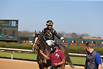 March 6, 2021: Bode's Maker (8) with jockey Ramon A Vazquez after winning in the fifth race at Oaklawn Racing Casino Resort in Hot Springs, Arkansas on March 6, 2021. Justin Manning/Eclipse Sportswire/CSM