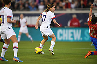 JACKSONVILLE, FL - NOVEMBER 10: Tobin Heath #17 of the United States turns and moves with the ball during a game between Costa Rica and USWNT at TIAA Bank Field on November 10, 2019 in Jacksonville, Florida.