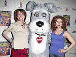 Mary Tyler Moore & Maddie & Bernadette Peters.Backstage at Broadway Barks Lucky 13th Annual Adopt-a-thon  in New York City.