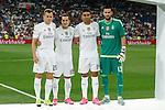 Real Madrid´s (L-R) Cheryshev, Lucas Vazquez, Casemiro and Kiko Casilla during Santiago Bernabeu Trophy match at Santiago Bernabeu stadium in Madrid, Spain. August 18, 2015. (ALTERPHOTOS/Victor Blanco)
