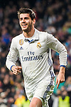 Alvaro Morata of Real Madrid celebrates during their La Liga match between Real Madrid and Real Sociedad at the Santiago Bernabeu Stadium on 29 January 2017 in Madrid, Spain. Photo by Diego Gonzalez Souto / Power Sport Images