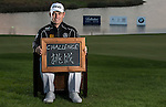 """Louis Oosthuizen was asked by Ballantine's at the BMW Masters to describe how he stays true to himself; his answer is shown. Ballantine's, who recently announced their new global marketing campaign, """"Stay True, Leave An Impression"""", is a sponsor at the BMW Masters, which takes place from the 24-27 October at Lake Malaren Golf Club in Shanghai.    Photo by Andy Jones / The Power of Sport Images for Ballantines."""