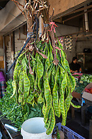 Jimbaran, Bali, Indonesia.  Petai, or Pete, Beans, also known as Bitter Bean, Stink Beans, or Twisted Cluster Beans.