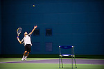 SHANGHAI, CHINA - OCTOBER 13:  Andreas Seppi of Italy serves to Marin Cilic of Croatia during day three of the 2010 Shanghai Rolex Masters at the Shanghai Qi Zhong Tennis Center on October 13, 2010 in Shanghai, China.  (Photo by Victor Fraile/The Power of Sport Images) *** Local Caption *** Andreas Seppi