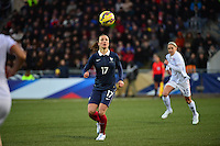 Lorient, France. - Sunday, February 8, 2015: Gaëtane Thiney of France. USWNT vs France during an international friendly at the Stade du Moustoir.