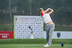 Minami Hiruta of Japan tees off at tee one during the 9th Faldo Series Asia Grand Final 2014 golf tournament on March 18, 2015 at Mission Hills Golf Club in Shenzhen, China. Photo by Xaume Olleros / Power Sport Images