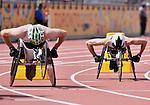 Brent Lakatos and Wes Vick, Toronto 2015 - Para Athletics // Para-athlétisme.<br /> Brent Lakatos and Wes Vick compete in the Men's 800m T53 Final // Brent Lakatos et Wes Vick participent à la finale du 800 m T53 masculin. 13/08/2015.