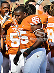 Texas Longhorns defensive tackle Ashton Dorsey (85) in action during the game between the Brigham Young Cougars and the Texas Longhorns at the Darrell K Royal - Texas Memorial Stadium in Austin, Texas. Texas defeats Brigham Young 17 to 16...