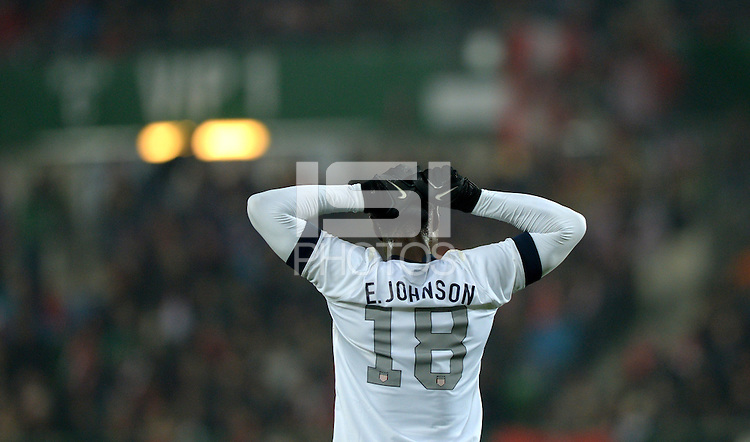 VIENNA, Austria - November 19, 2013: Eddie Johnson during the international friendly match between Austria and the USA at Ernst-Happel-Stadium.