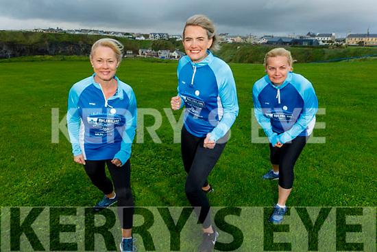 Valerie Hartnett, Caroline Duane and Brenda Mulvihill from Ballybunion looking forward to doing the Virtual Dublin Marathon in aid of the Adapt Kerry Refuge.
