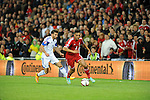 UEFA European Championship at Cardiff City Stadium - Wales v Cyprus : <br /> Neil Taylor takes the ball forward for Wales in the second half.
