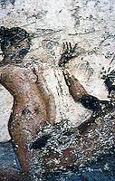 Ancient Erotica:  Brothel Fresco, Pompeii.  Photo '84.