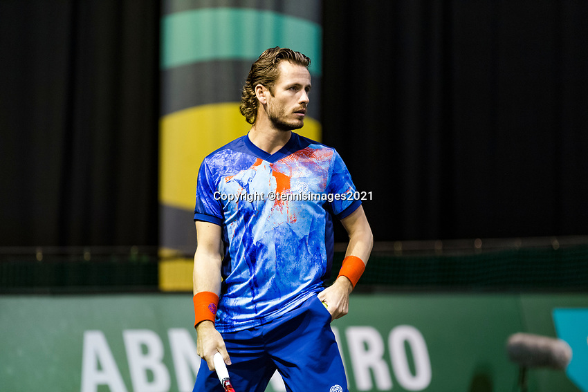 Rotterdam, The Netherlands, 3 march  2021, ABNAMRO World Tennis Tournament, Ahoy, First round doubles: Wesley Koolhof (NED).<br /> Photo: www.tennisimages.com