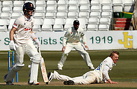 Scott Borthwick of Durham lies on the floor during Essex CCC vs Durham CCC, LV Insurance County Championship Group 1 Cricket at The Cloudfm County Ground on 17th April 2021