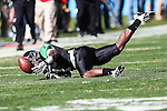 North Texas Mean Green defensive back Zed Evans (1) in action during the Heart of Dallas Bowl game between the North Texas Mean Green and the UNLV Rebels at the Cotton Bowl Stadium in Dallas, Texas. UNT defeats UNLV 36 to 14.
