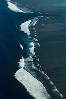 France, île de la Réunion, Saint-Paul, la plage du lagon de la Saline-les-Bains, vue aérienne // France, Reunion island (overseas department), Saint Paul, beach of Saline les Bains lagoon , aerial view