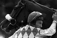Pix: Michael Steele/SWpix.com. Lester Piggot, jockey. Doncaster 1991..COPYWRIGHT PICTURE>>SIMON WILKINSON>>01943 436649>>..Lester Piggot pictured at Doncaster races in 1991