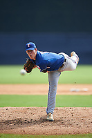 Adam Laskey (14) of Haddon Heights High School in Haddonfield, New Jersey playing for the Texas Rangers scout team during the East Coast Pro Showcase on July 29, 2015 at George M. Steinbrenner Field in Tampa, Florida.  (Mike Janes/Four Seam Images)