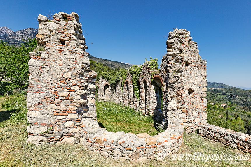 The Refectory of Saint Sophia Monastery in Mystras, Greece