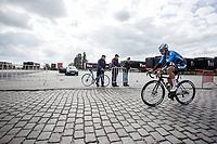 Elias Van Breussegem (BEL/Veranda's Willems Crelan) riding the cobbles<br /> <br /> 102nd Kampioenschap van Vlaanderen 2017 (UCI 1.1)<br /> Koolskamp - Koolskamp (192km)