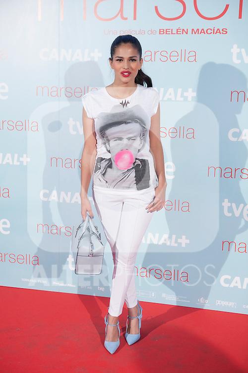 Sara Salamo poses at `Marsella´ film premiere photocall at Capital cinema in Madrid, Spain. July 17, 2014. (ALTERPHOTOS/Victor Blanco)
