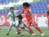 CALI - COLOMBIA, 28-11-2020: América de Cali y Atlético Nacional en partido por los cuartos de final vuelta como parte de la Liga Femenina BetPlay DIMAYOR 2020 jugado en el estadio Pascual Guerrero de la ciudad de Cali. / America de Cali and Atletico Nacional in second leg quarter-final match as part of Women's BetPlay DIMAYOR 2020 League played at Pascual Guerrero stadium in Cali. Photo: VizzorImage / Gabriel Aponte / Staff