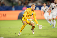 CARSON, CA - SEPTEMBER 21: Evan Bush #1 of the Montreal Impact defending his goal during a game between Montreal Impact and Los Angeles Galaxy at Dignity Health Sports Park on September 21, 2019 in Carson, California.