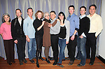 Chairman Of The Board Judith Rubin, Tim Hopper, Stephen Bogardus, Lisa Banes, Judith Rbin, David Greenspan, Leigh Silverman, Brian Hutchison, Michael Izquierdo & Artistic Director Tim Stanford.attending the 'Go Back To Where You Are' First Day of Rehearsals at Playwrights Horizons' in New York City.