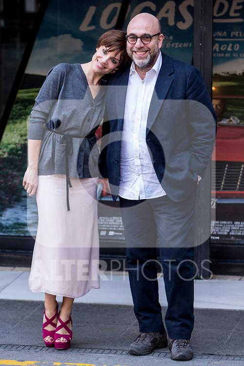 "Micaela Ramazzotti and Paolo Virzi attends the presentation of ""Locas de Alegria"" at Princesa Cinema in Madrid, Spain. March 10, 2017. (ALTERPHOTOS / Rodrigo Jimenez)"