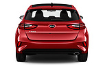 Straight rear view of 2019 KIA Ceed Fusion Door Hatchback Rear View  stock images