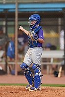 Catcher Garrett Frost (6) during the Perfect Game National Underclass East Showcase on January 23, 2021 at Baseball City in St. Petersburg, Florida.  (Mike Janes/Four Seam Images)