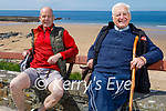 Patrick and Michael Devine who is going on 92 enjoying a stroll in Ballybunion on Saturday.