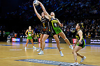 Claire Kersten of the Pulse and Samantha Winders of the Magic during the ANZ Premiership Netball - Pulse v Magic at TSB Bank Arena, Wellington, New Zealand on Sunday 30 May 2021.<br /> Photo by Masanori Udagawa. <br /> www.photowellington.photoshelter.com