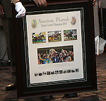 June 13, 2015 Ahmed Zayat was given a framed picture with the three Triple Crown win photos for American Pharoah, who won the 2015 running of the first jewel of the Triple Crown at Churchill Downs.  ©Mary M. Meek/ESW/CSM