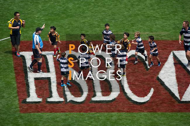 Mini-rugby on Day 1 of the Cathay Pacific / HSBC Hong Kong Sevens 2013 at Hong Kong Stadium, Hong Kong. Photo by Manuel Queimadelos / The Power of Sport Images