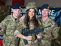 Miss Scotland, Nicole Treacy, helps raise awareness of the TA and it's vital role as she meets Lance Corporal Andy Hough and Sapper Stuart Brown from 124 Field Squadron, The Royal Engineers TA in Cumbernauld ?