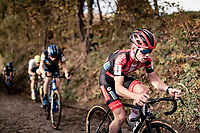 Eli Iserbyt (BEL/Pauwels Sauzen-Bingoal) up the infamous Koppenberg.<br /> <br /> Koppenbergcross 2020 (BEL)<br /> men's race<br /> <br /> ©kramon