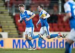 St Johnstone v Rangers…27.02.18…  McDiarmid Park    SPFL<br />Jason Kerr celebrates his goal<br />Picture by Graeme Hart. <br />Copyright Perthshire Picture Agency<br />Tel: 01738 623350  Mobile: 07990 594431