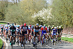 The peleton in action during the 116th edition of Paris-Roubaix 2018. 8th April 2018.<br /> Picture: ASO/Pauline Ballet | Cyclefile<br /> <br /> <br /> All photos usage must carry mandatory copyright credit (© Cyclefile | ASO/Pauline Ballet)
